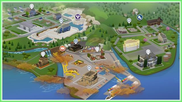 Evergreen Harbor Mapa